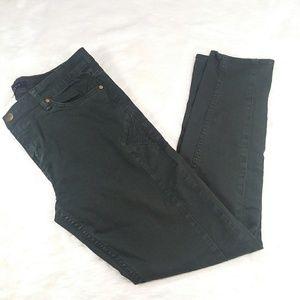 Sanctuary utility green moto skinny jeans